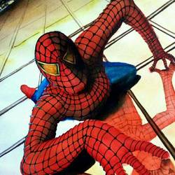 spiderman, 16 x 11 inch, vivek anand,figurative paintings,canson paper,watercolor,16x11inch,GAL0366012199