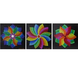 rainbow flowers, 8 x 8 inch, kunal girme,paintings,abstract paintings,flower paintings,multi piece paintings,paintings for dining room,paintings for living room,paintings for bedroom,paintings for office,paintings for bathroom,paintings for kids room,paintings for hotel,paintings for kitchen,nature paintings,canvas board,acrylic color,8x8inch,GAL0516412204Nature,environment,Beauty,scenery,greenery