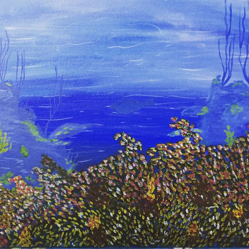 underwater life, 12 x 16 inch, swati verma,paintings,nature paintings,paintings for living room,paintings for bedroom,paintings for office,paintings for hotel,paintings for living room,paintings for bedroom,paintings for office,paintings for hotel,canvas,acrylic color,12x16inch,GAL0422612219Nature,environment,Beauty,scenery,greenery