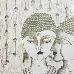 buddha, 21 x 17 inch, runjhun  jain,buddha drawings,paintings for dining room,paintings for office,ivory sheet,charcoal,pencil color,21x17inch,GAL0210712234