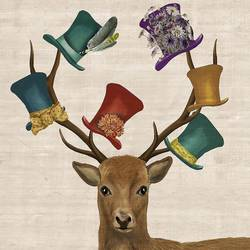Deer with a glossy hat's  art print by Gallerist