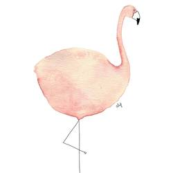 Fat pink flamingo art print by Gallerist