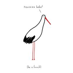 The nouveau bird  art print by Gallerist