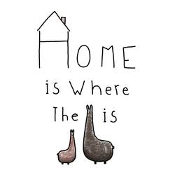 The home with animal art print by Gallerist