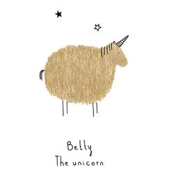 Betty the unicorn art print by Gallerist