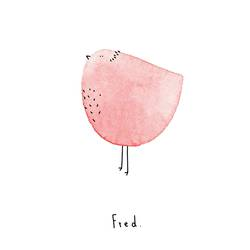 Pink bird  art print by Gallerist