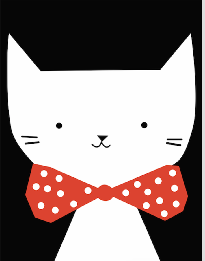 Cat with a red bo-tie