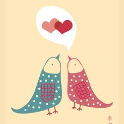 Bird in love  art print by Gallerist