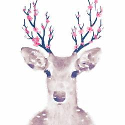 Deer with white dot  art print by Gallerist