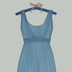 Blue dress art print by Gallerist