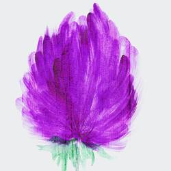 Dark purple flower  art print by Gallerist