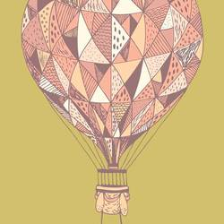 The traveling ballon art print by Gallerist
