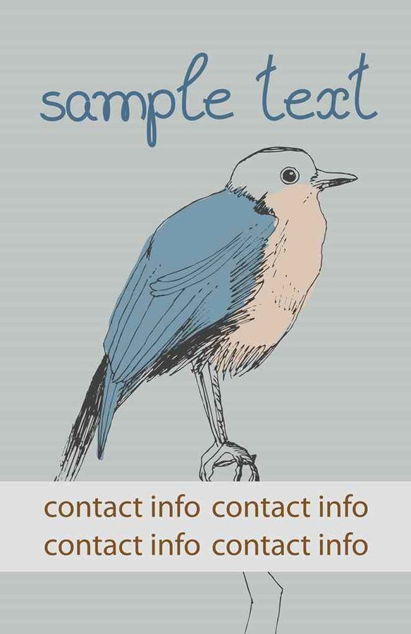 Bird with simple  text