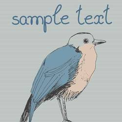 Bird with simple  text art print by Gallerist