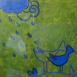 rainy day2, 12 x 10 inch, chandrani  paul,paintings,folk art paintings,canvas board,mixed media,12x10inch,GAL0422112371