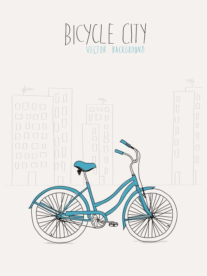 The bicycle in city