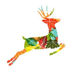 Colourful deer art print by Gallerist