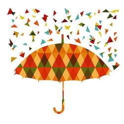 Umbrella with dot art print by Gallerist