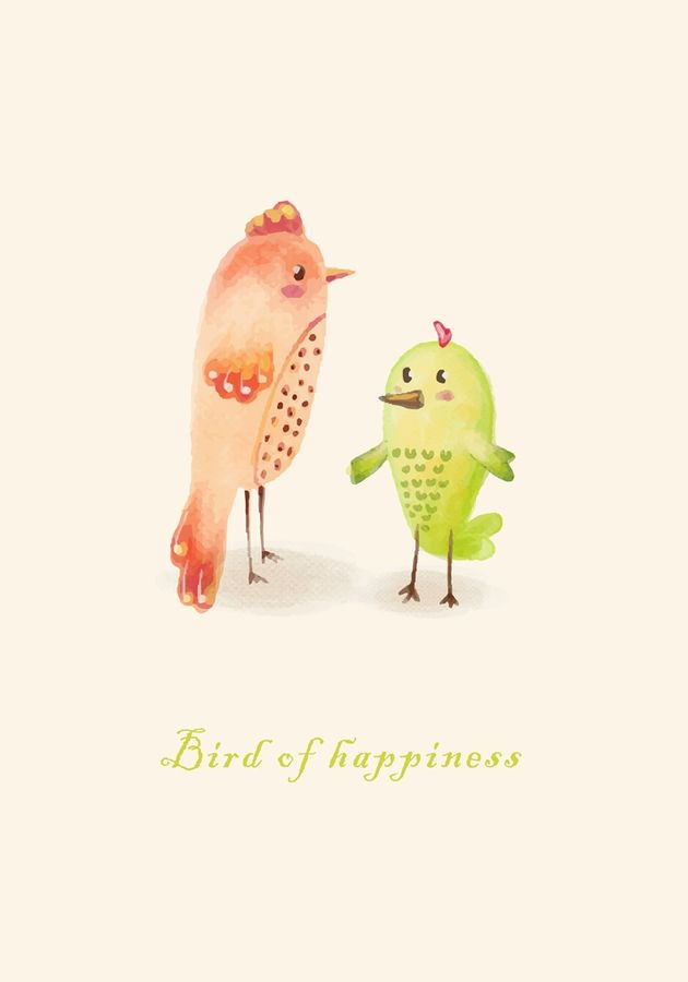 Bird of heppines