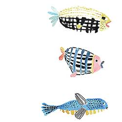 Three fish  art print by Gallerist