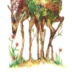 Loving deer  art print by Gallerist