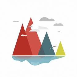 Mountain with colour art print by Gallerist