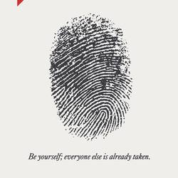 Be yourself art print by Gallerist