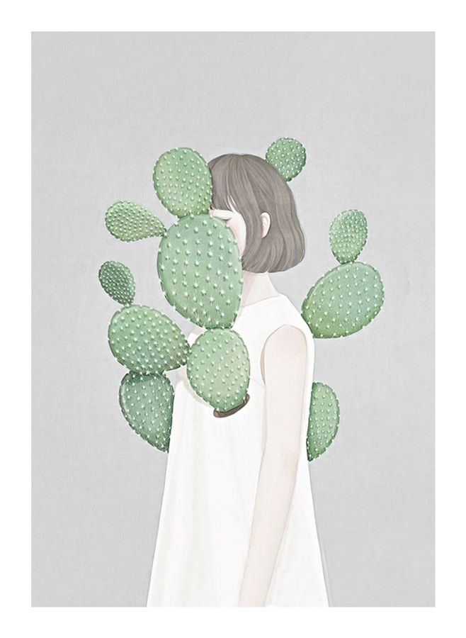 Cactus with a girl