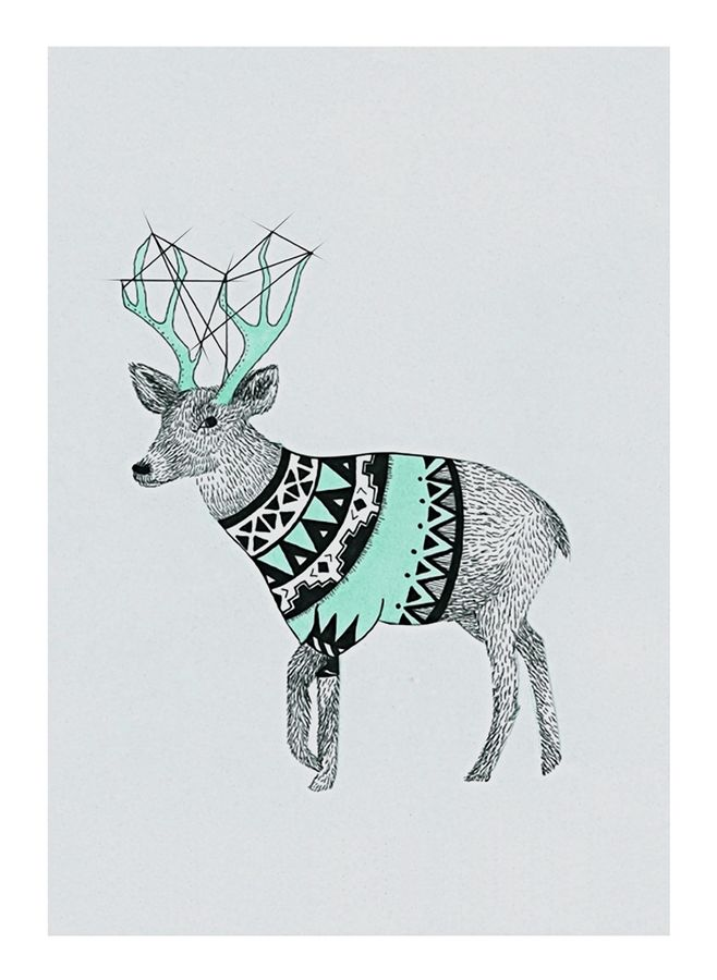 Deer with a cloth