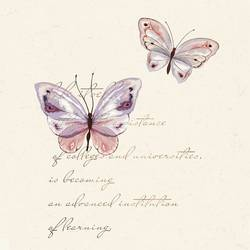 Pink butterfly art print by Gallerist