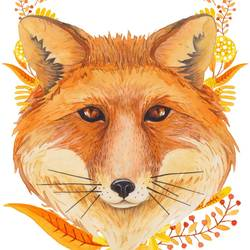 The fox art print by Gallerist