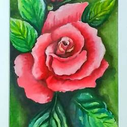 rose flower..., 8 x 17 inch, sneha gupta,paintings,flower paintings,paintings for living room,paintings for bedroom,paintings for office,paintings for hotel,paintings for living room,paintings for bedroom,paintings for office,paintings for hotel,hardboard,watercolor,8x17inch,GAL0467312479