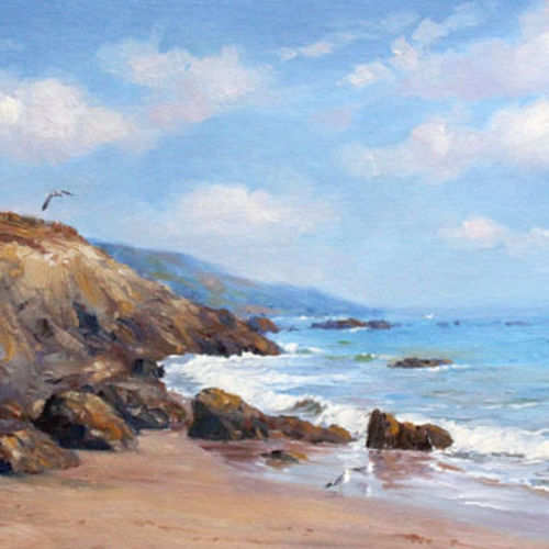 seascape with seagulls, 25 x 16 inch, chandrashekhar rangnekar,paintings,landscape paintings,nature paintings,paintings for living room,paintings for office,paintings for hotel,paintings for living room,paintings for office,paintings for hotel,canvas,oil,25x16inch,GAL0523012480Nature,environment,Beauty,scenery,greenery,waves,water,stone,island,scape,seagulls