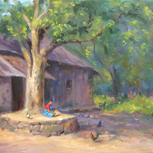 the daily work, 18 x 14 inch, chandrashekhar rangnekar,paintings,landscape paintings,nature paintings,paintings for dining room,paintings for living room,paintings for bedroom,paintings for office,paintings for hotel,canvas,oil,18x14inch,GAL0523012482Nature,environment,Beauty,scenery,greenery