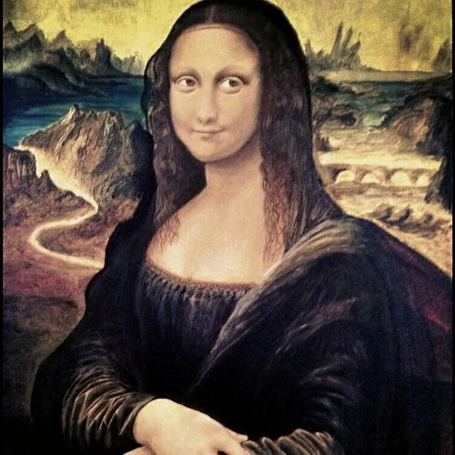 monalisa, through my eyes, 24 x 32 inch, trishanth naidu,portrait paintings,paintings for living room,canvas,acrylic color,24x32inch,GAL05111250