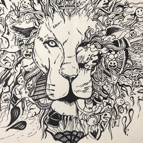 the king , 15 x 12 inch, rushali srivastava,paintings for bedroom,paintings for hotel,graffiti drawings,modern drawings,paintings for bedroom,paintings for hotel,paper,pen color,ball point pen,15x12inch,GAL0528012513