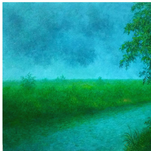 badal, 24 x 18 inch, arun kumar ghosh,abstract paintings,landscape paintings,nature paintings,realism paintings,realistic paintings,paintings for dining room,paintings for living room,paintings for bedroom,paintings for office,paintings for kids room,paintings for hotel,canvas,acrylic color,24x18inch,GAL0528712551Nature,environment,Beauty,scenery,greenery