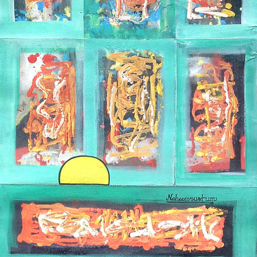 colour window , 22 x 30 inch, naheem rustum,abstract paintings,paintings for dining room,handmade paper,acrylic color,22x30inch,GAL034412557