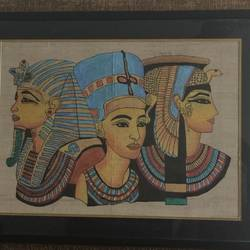 egyptian era, 22 x 18 inch, manisha dubey,paintings,modern art paintings,paintings for dining room,paintings for living room,paintings for bedroom,paintings for office,paintings for hotel,silk,fabric,22x18inch,GAL0530212564