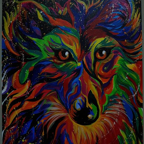 wolf abstract, 20 x 24 inch, sarla devi,paintings,abstract paintings,paintings for dining room,paintings for living room,paintings for bedroom,paintings for office,paintings for kids room,paintings for hotel,paintings for dining room,paintings for living room,paintings for bedroom,paintings for office,paintings for kids room,paintings for hotel,canvas,acrylic color,20x24inch,GAL0531612572