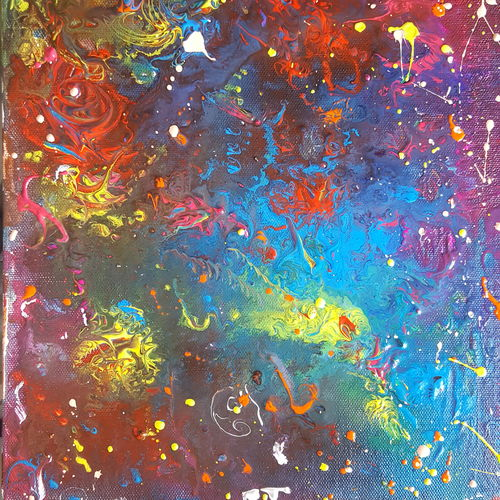fluid abstract, 10 x 12 inch, sarla devi,paintings,abstract paintings,paintings for dining room,paintings for living room,paintings for bedroom,paintings for office,paintings for kids room,paintings for hotel,paintings for kitchen,canvas,acrylic color,10x12inch,GAL0531612573