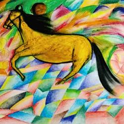 heaven horse, 16 x 11 inch, harish jaipal mali,drawings,abstract drawings,abstract expressionist drawings,modern drawings,paintings for living room,paintings for office,paintings for hotel,drawing paper,pastel color,pencil color,16x11inch,GAL0522612579