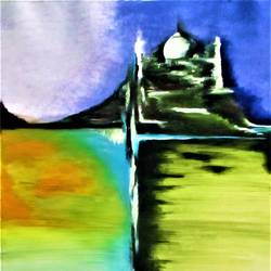 taj foundation, 28 x 38 inch, abhishek chauhan,paintings,abstract paintings,landscape paintings,modern art paintings,conceptual paintings,canvas,acrylic color,28x38inch,GAL0532912605