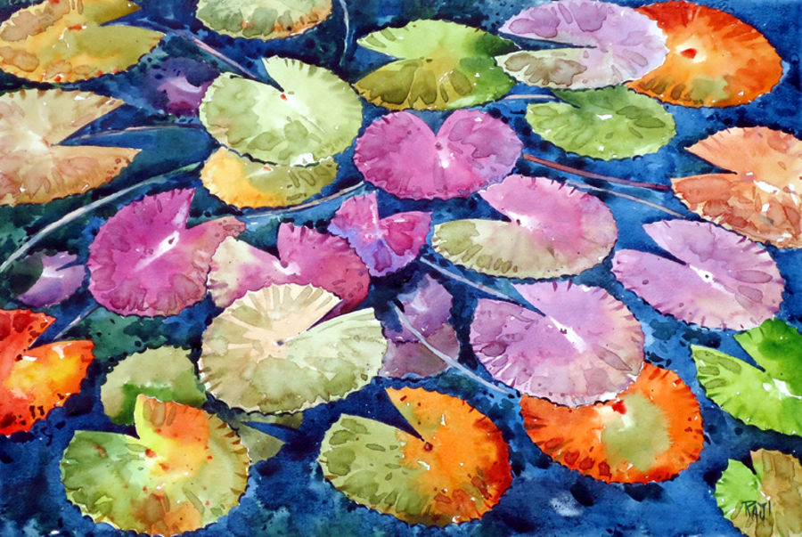 water lily, 21 x 15 inch, raji p,paintings,flower paintings,foil paintings,landscape paintings,still life paintings,nature paintings,paintings for dining room,paintings for living room,paintings for bedroom,paintings for office,paintings for hotel,canson paper,watercolor,21x15inch,GAL059012624Nature,environment,Beauty,scenery,greenery