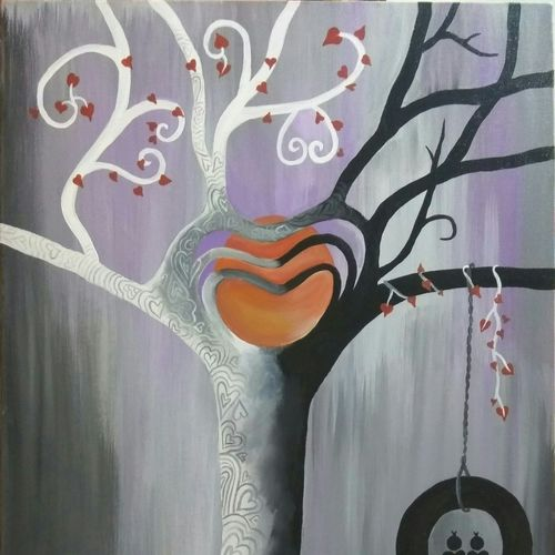 tree of love, 24 x 36 inch, ravneet kaur,nature paintings,paintings for dining room,paintings for living room,paintings for bedroom,paintings for office,paintings for hotel,paintings for dining room,paintings for living room,paintings for bedroom,paintings for office,paintings for hotel,canvas,acrylic color,24x36inch,GAL0198812669Nature,environment,Beauty,scenery,greenery