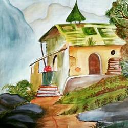 nature, 18 x 12 inch, ranjana langyan,paintings,landscape paintings,paintings for living room,paintings for living room,drawing paper,watercolor,18x12inch,GAL0296612670