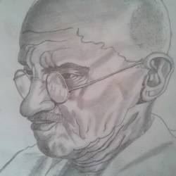 mahatma gandhi , 10 x 12 inch, ranjana langyan,paintings for office,portrait drawings,paintings for office,drawing paper,pencil color,10x12inch,GAL0296612672