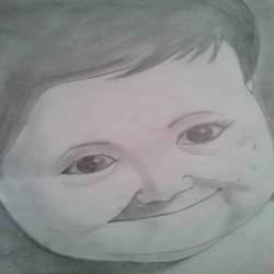 infant smile, 10 x 12 inch, ranjana langyan,drawings,portrait drawings,paintings for office,paper,pencil color,10x12inch,GAL0296612674
