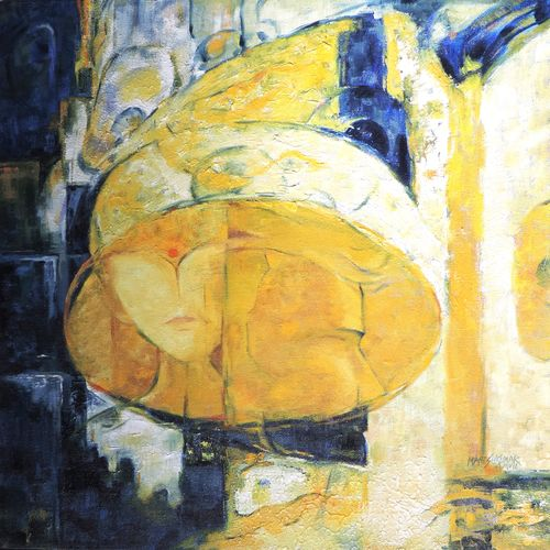 mood and nature in yellow and black, 18 x 18 inch, maheshkumar jadhav,abstract paintings,paintings for dining room,paintings for living room,paintings for bedroom,paintings for office,paintings for bathroom,paintings for hotel,canvas,oil,18x18inch,GAL0535212682