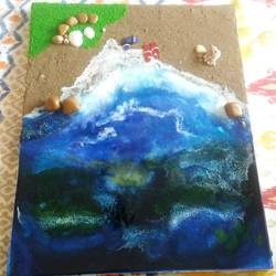 beach side resin art, 16 x 20 inch, rinku  soni,paintings,abstract paintings,nature paintings,paintings for living room,paintings for bedroom,paintings for kids room,paintings for hotel,paintings for living room,paintings for bedroom,paintings for kids room,paintings for hotel,canvas,acrylic color,mixed media,sand,16x20inch,GAL0536312683Nature,environment,Beauty,scenery,greenery